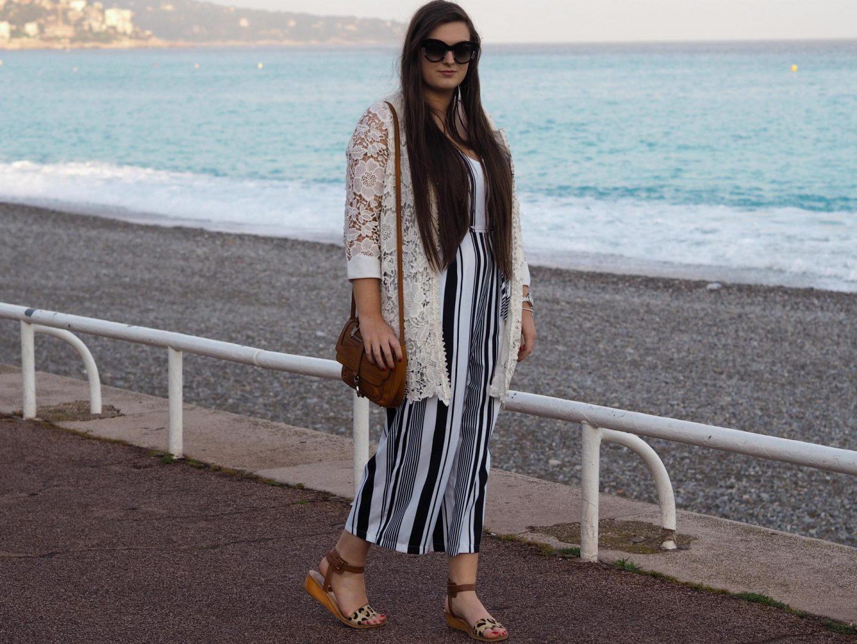 AX Striped Jumpsuit - Rachel Nicole UK Fashion Blogger