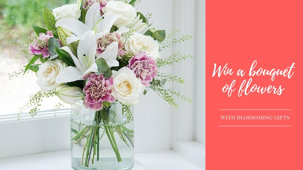 win a bouquet of flowers from Blossoming Gifts - Rachel Nicole UK Blogger