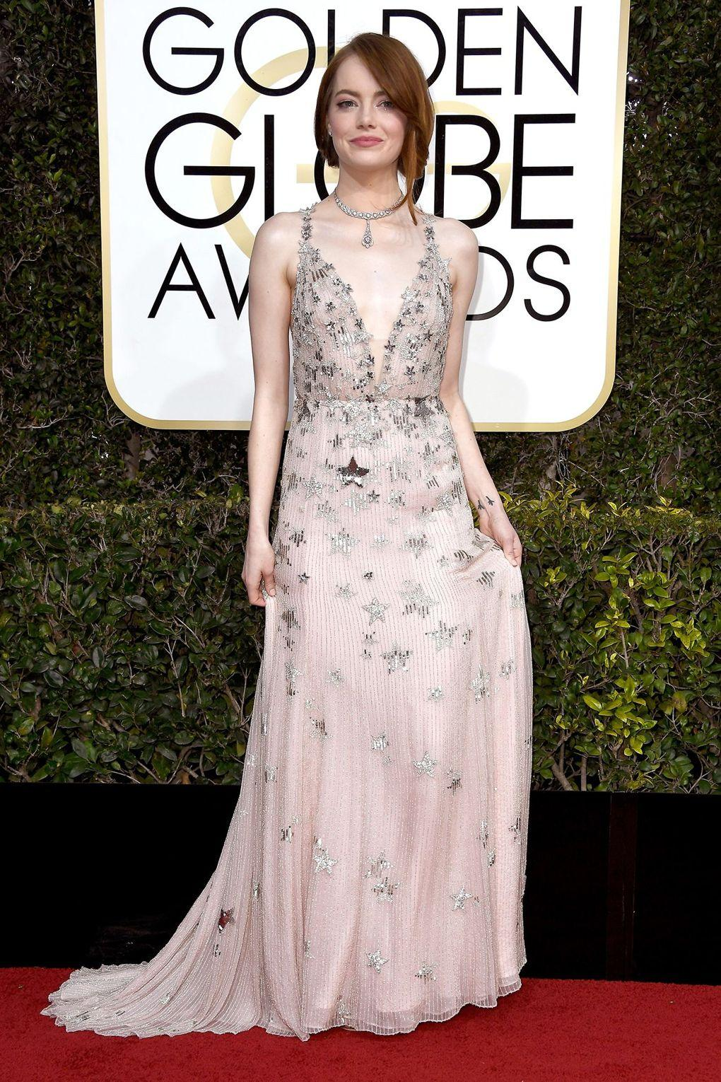 The Best Dressed from Golden Globe Awards - Emma Stone