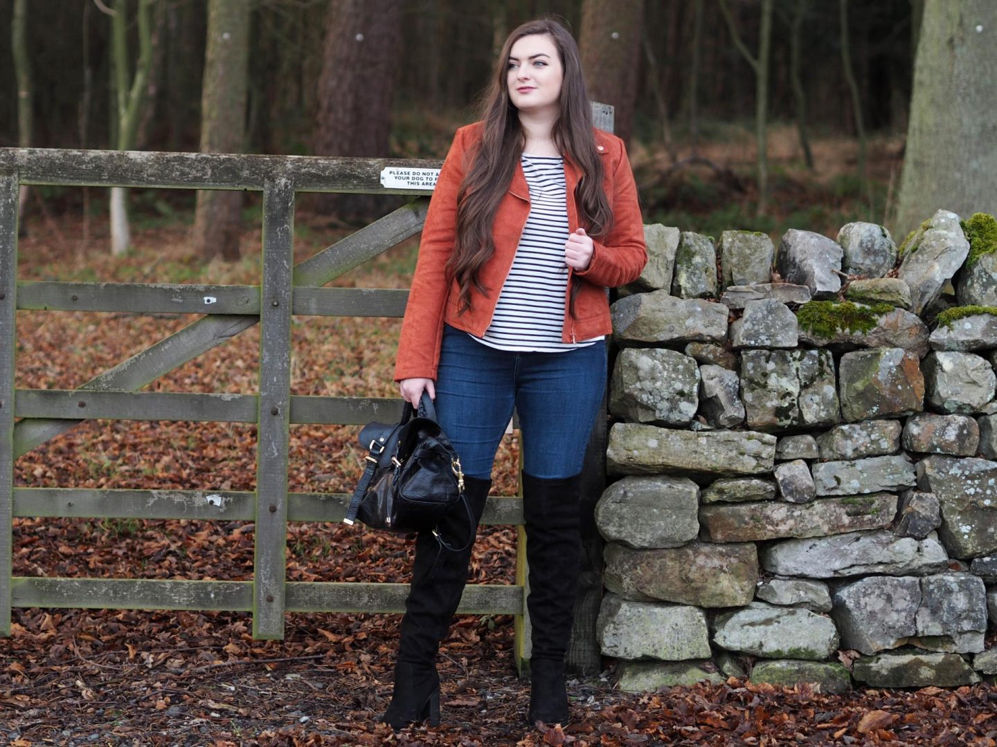 Faux Suede Jacket from Bon Prix OOTD - Rachel Nicole UK Blogger