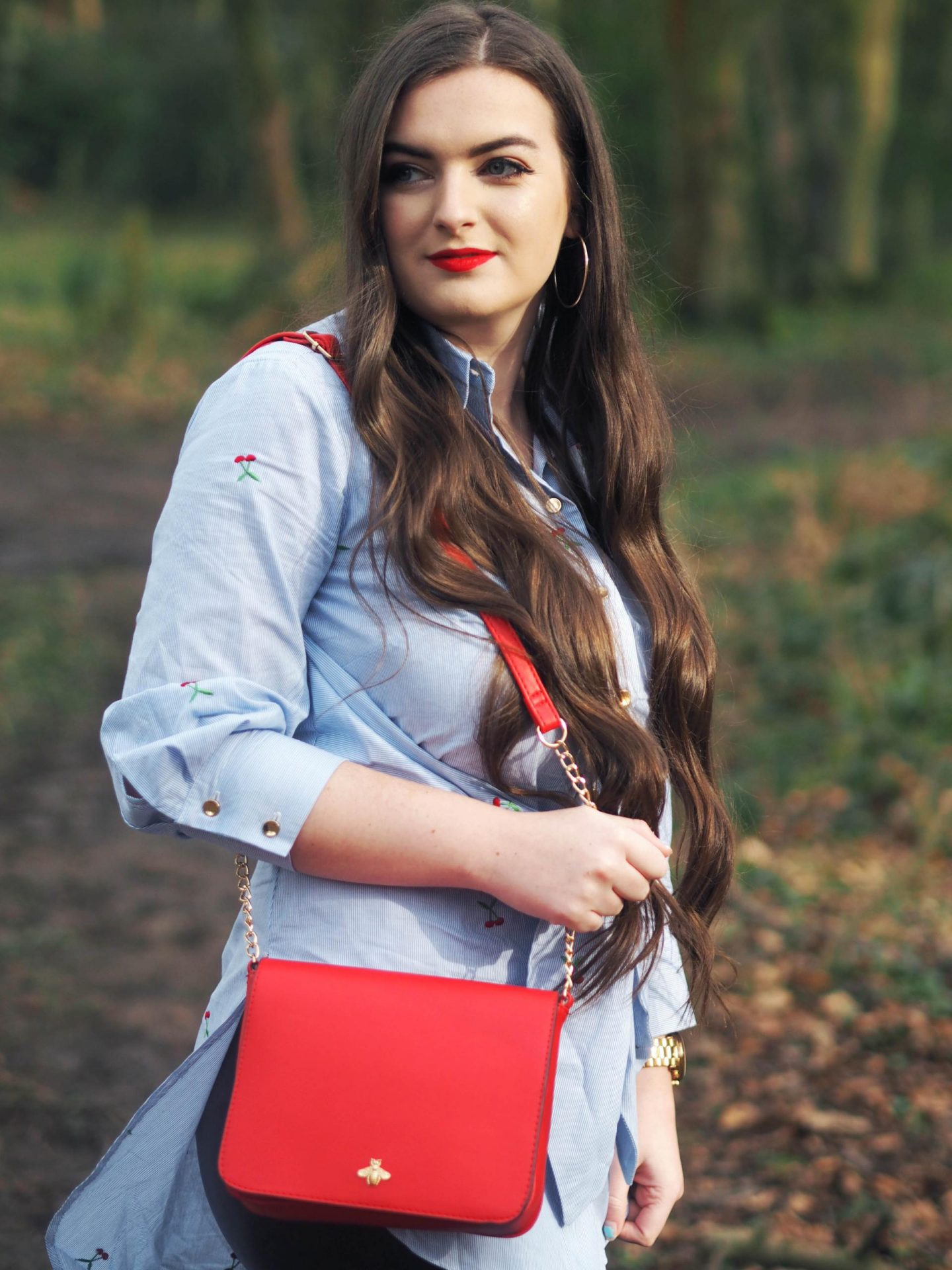 Cherry Tie Shirt with Closet London - Rachel Nicole UK Blogger