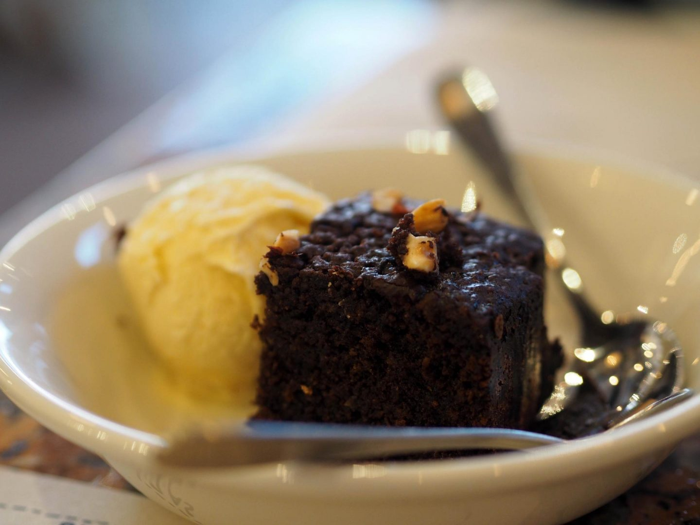 Franco Manca, Brighton Marina - Chocolate and Hazelnut Cake