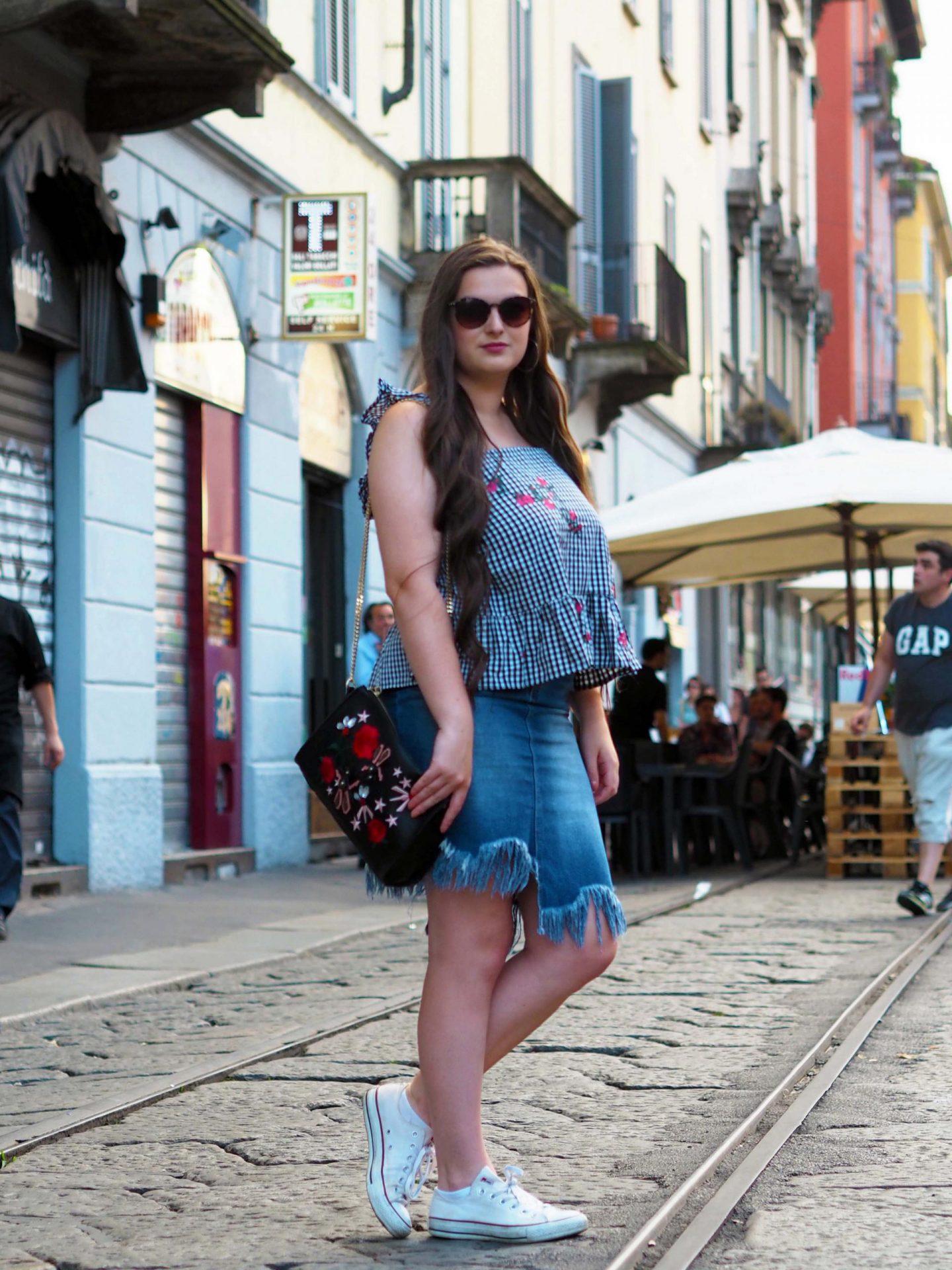 Gingham & Denim by MissPap in Milan - Rachel Nicole UK Blogger