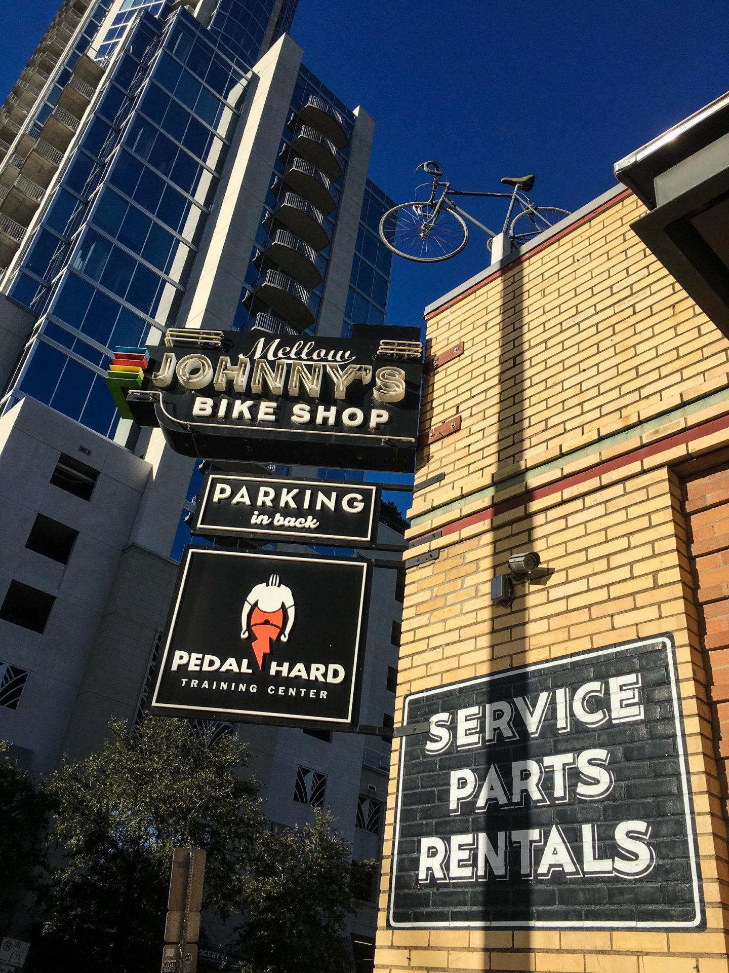 Lance Armstrong Bike Shop Cafe, Austin Texas - Rachel Nicole UK Travel Blogger