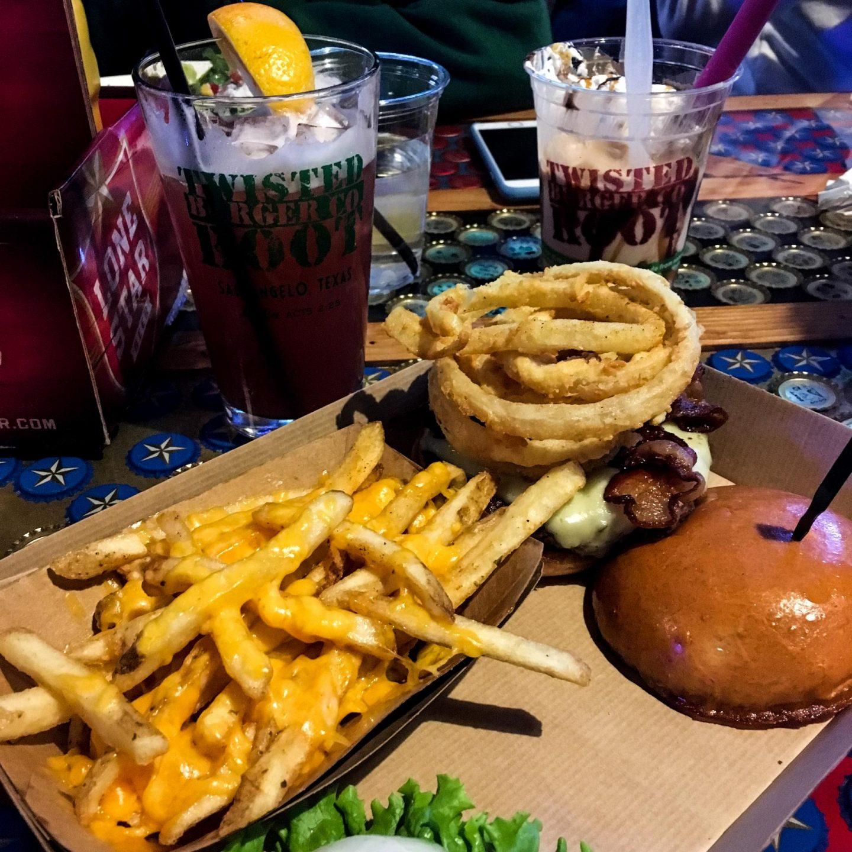 Twisted Root Burger Co, San Angelo Texas - Rachel Nicole UK Travel Blogger