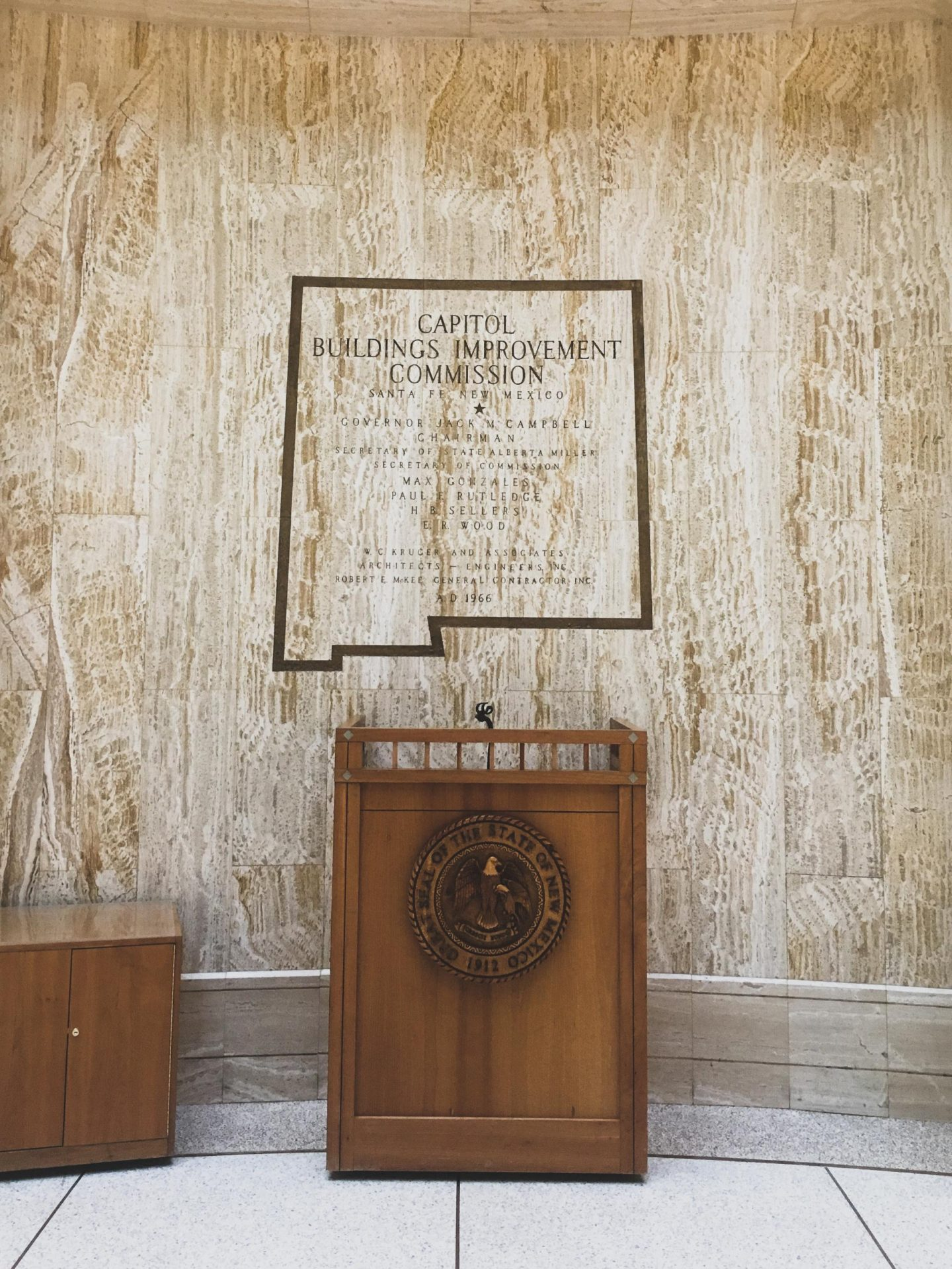 New Mexico State Capitol  - Carlsbad, Roswell & Santa Fe #7