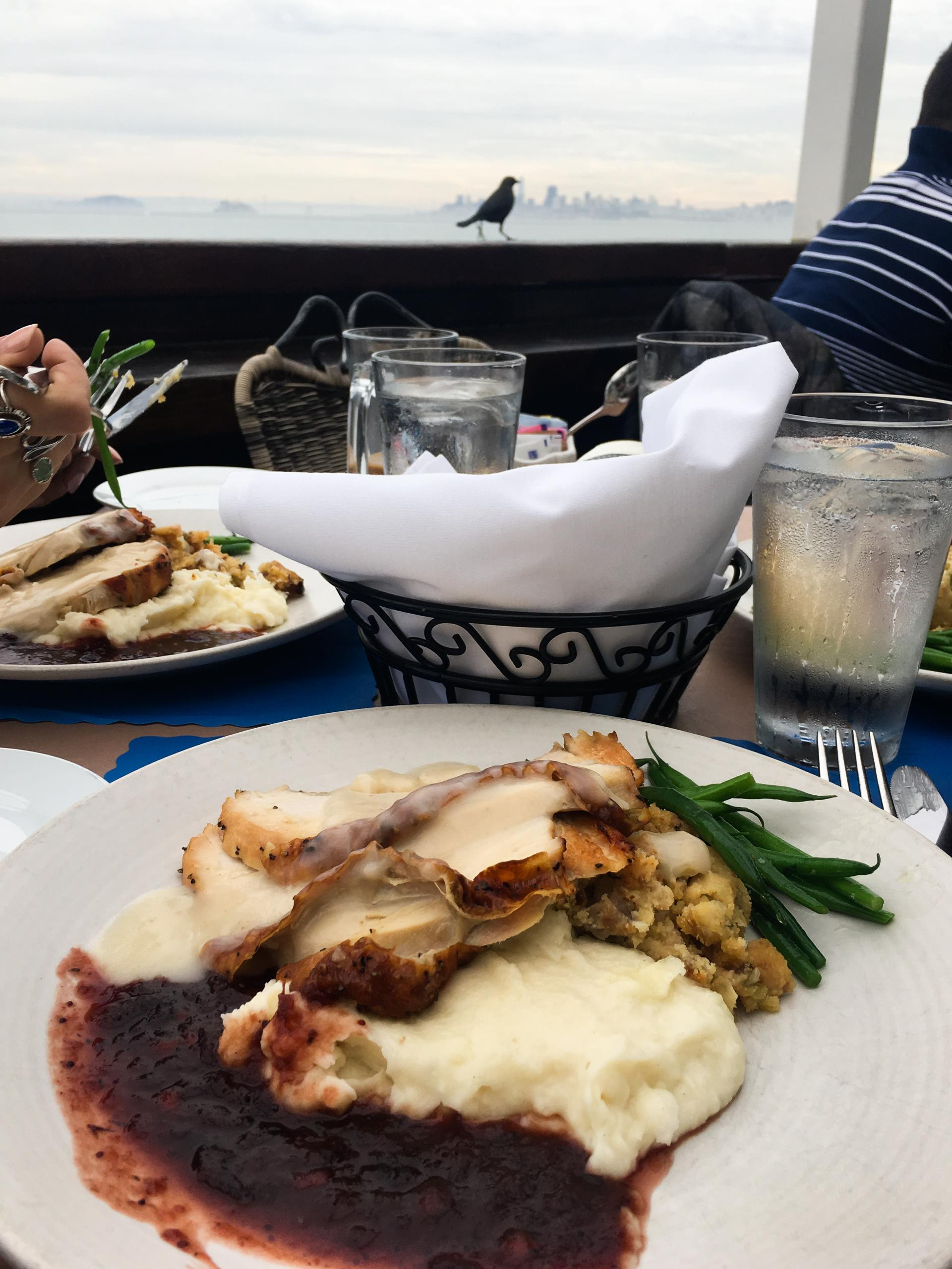 Thanksgiving Dinner at The Trident, Sausalito - Top 10 Places I ate in the USA - Rachel Nicole UK Blogger
