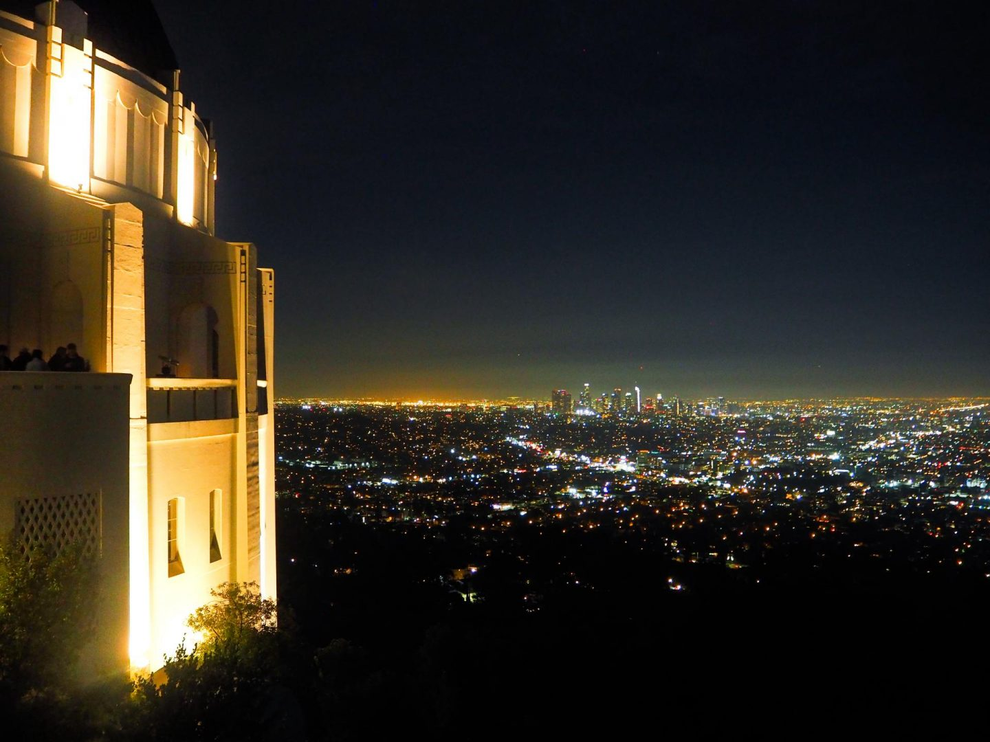The Griffith's Observatory at night - Los Angeles Travel Diary - Rachel Nicole UK Travel Blogger