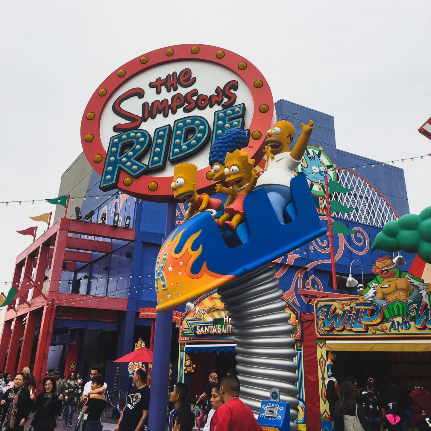 The Simpson Ride at Universal Studios, Hollywood with Attractiontix - Rachel Nicole UK Blogger