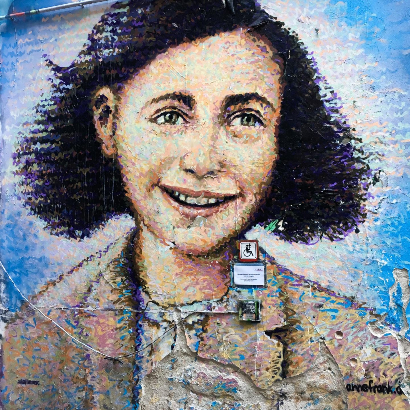 Anne Frank Mural at Dead Chicken Alley - Berlin Travel Diary - Rachel Nicole UK Blogger