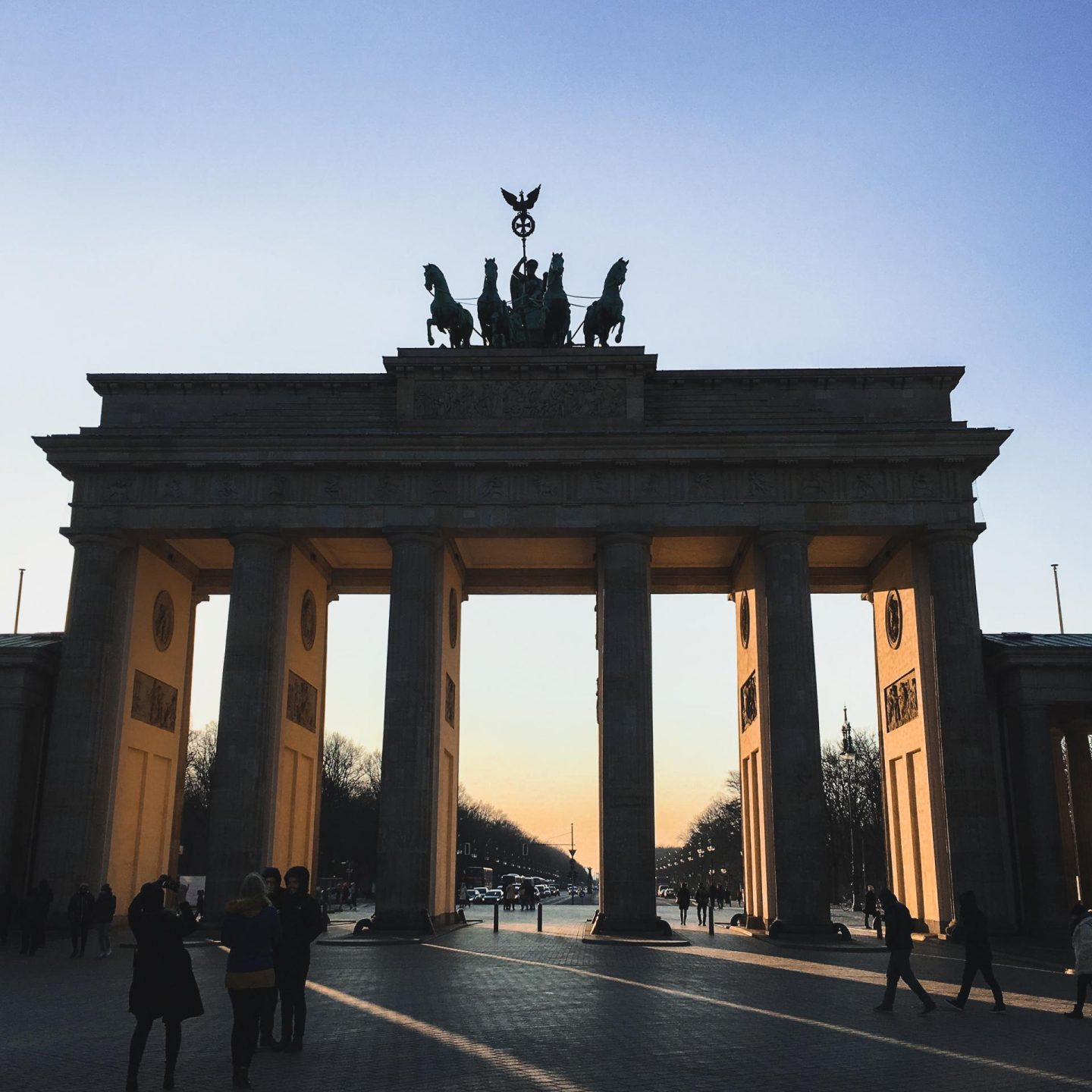 Brandenburg Gate at Dusk - Berlin Travel Diary - Rachel Nicole UK Blogger