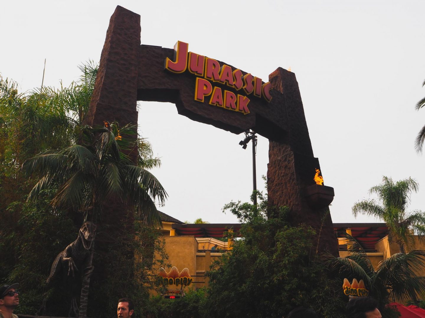 Jurassic Park at Universal Studios Hollywood at night with Attractiontix - Rachel Nicole UK Blogger