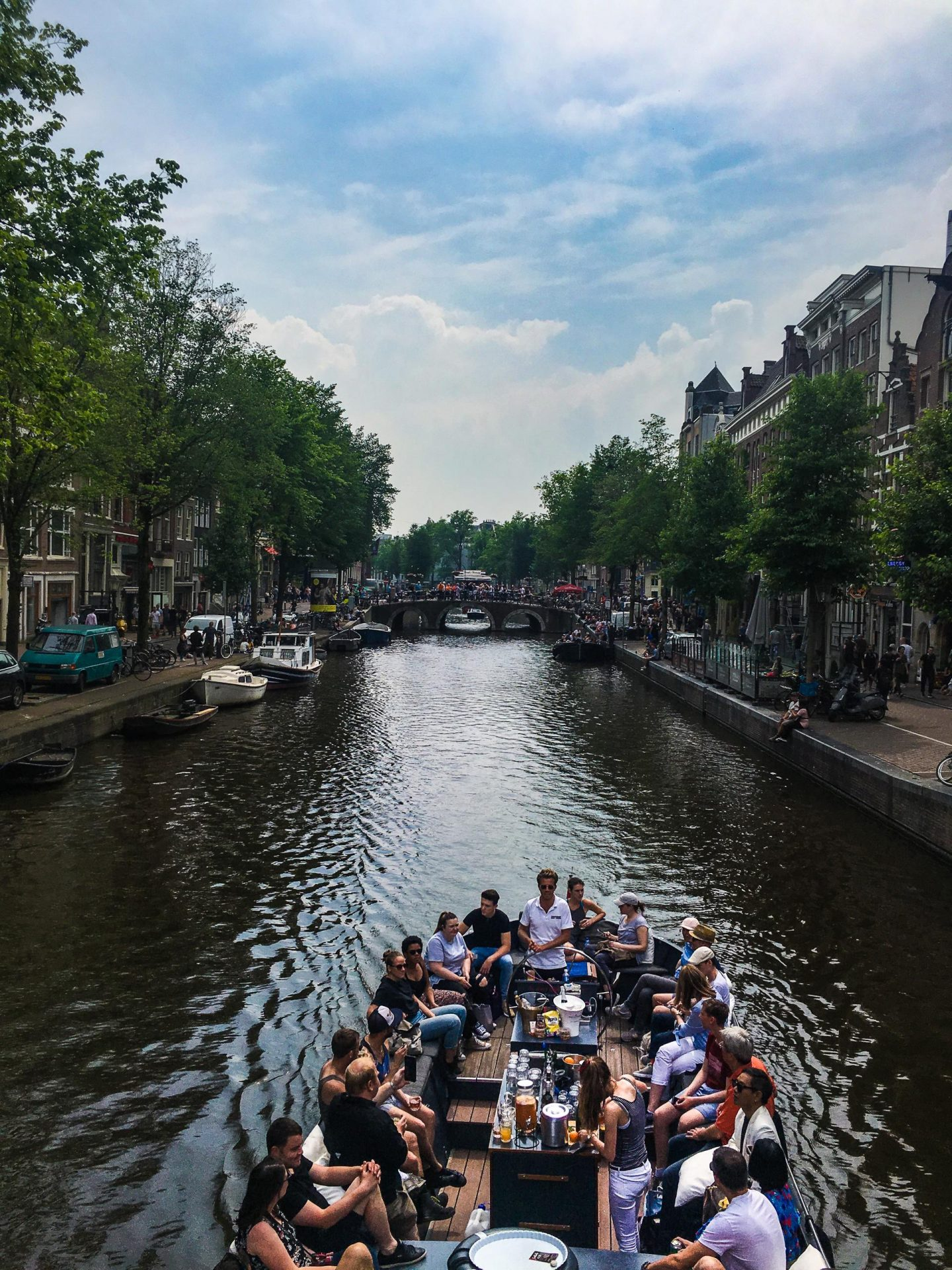 The ULTIMATE Guide to Visiting Amsterdam, Canal Boat - Rachel Nicole UK Blogger