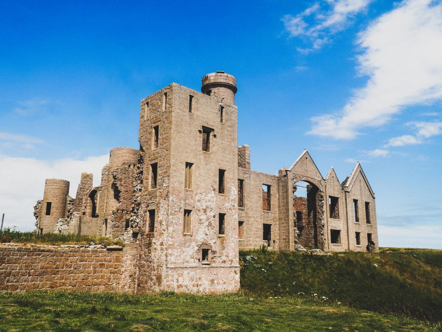Exploring Aberdeenshire on the North East 250 Route, Slains Castle - Rachel Nicole UK Travel Blogger