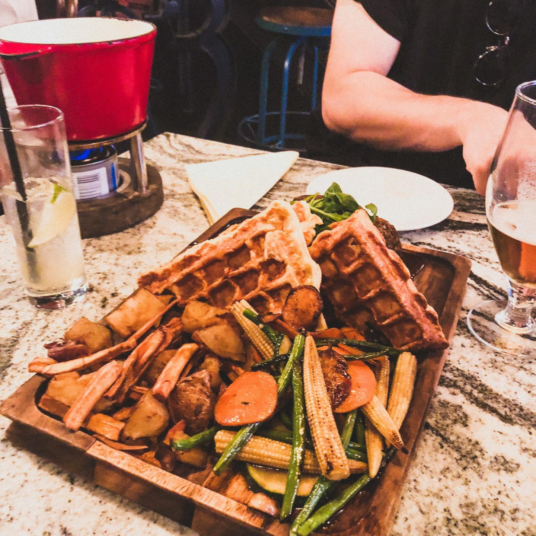 Unique Ideas for Date Night in Manchester, Sunday Roast Fondue - Rachel Nicole UK Blogger