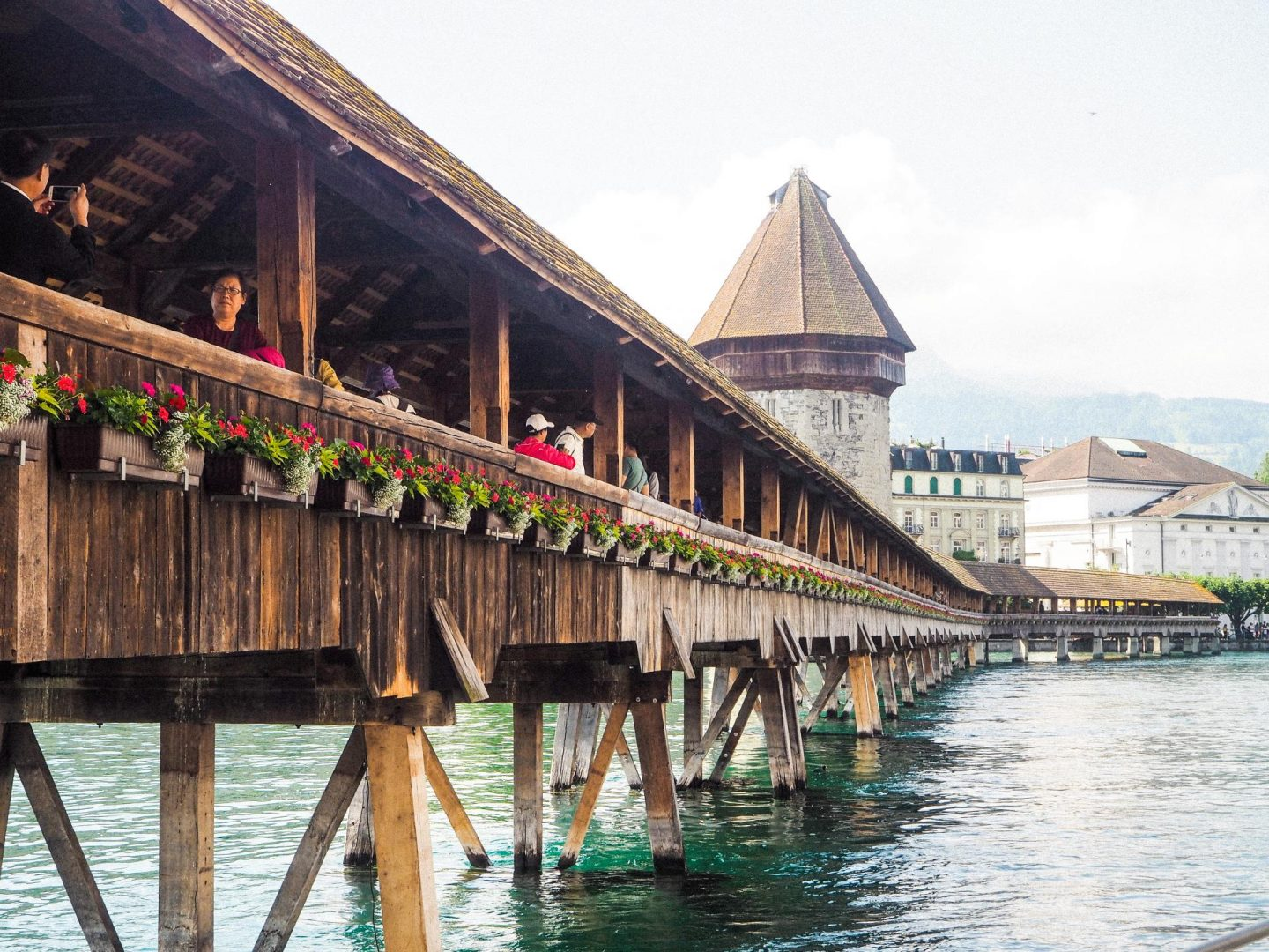 How to spend the day in Lucerne, Switzerland On a Budget - Chapel Bridge - Rachel Nicole UK Blogger