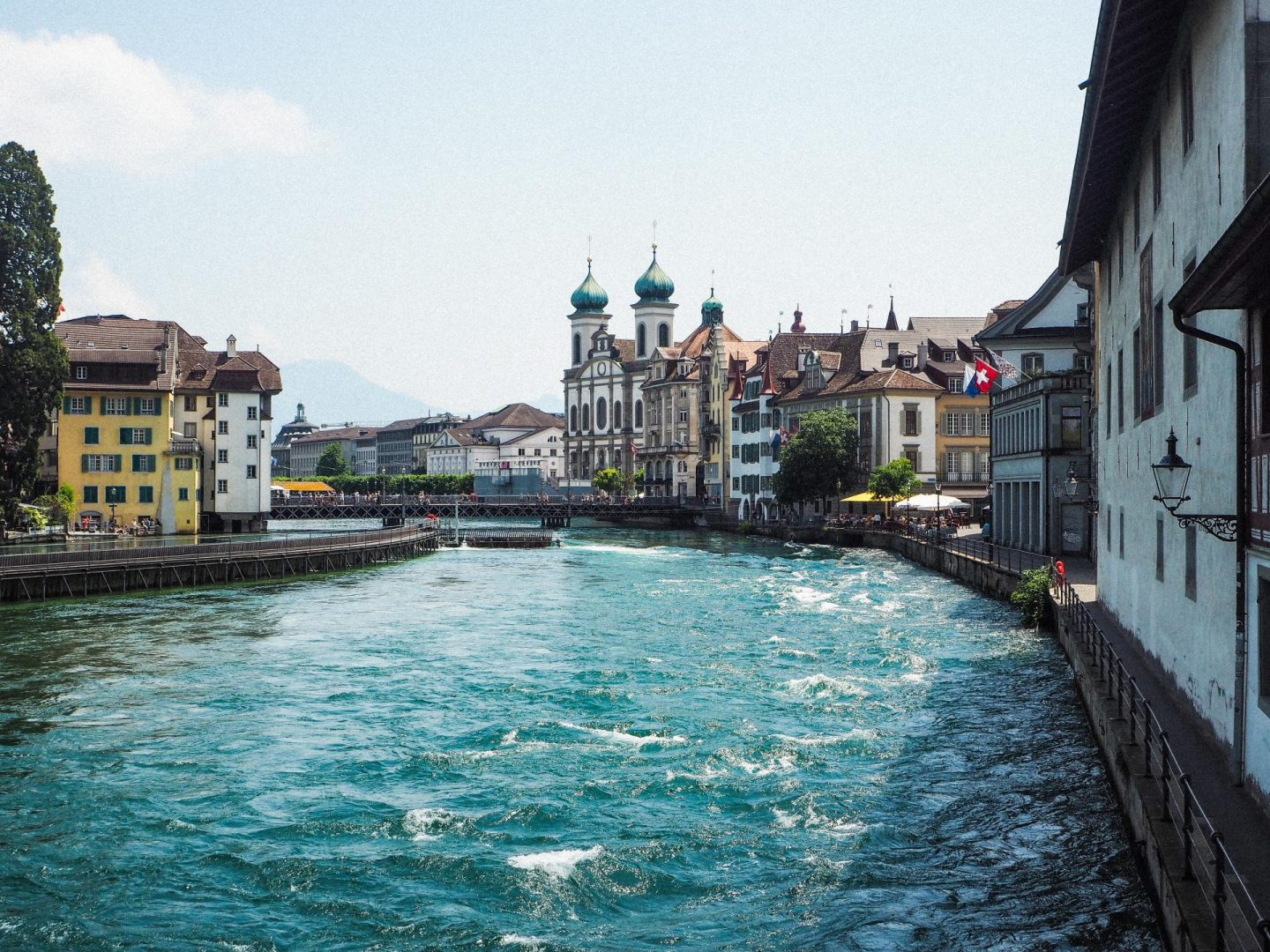How to spend the day in Lucerne, Switzerland On a Budget - River Reuess - Rachel Nicole UK Blogger