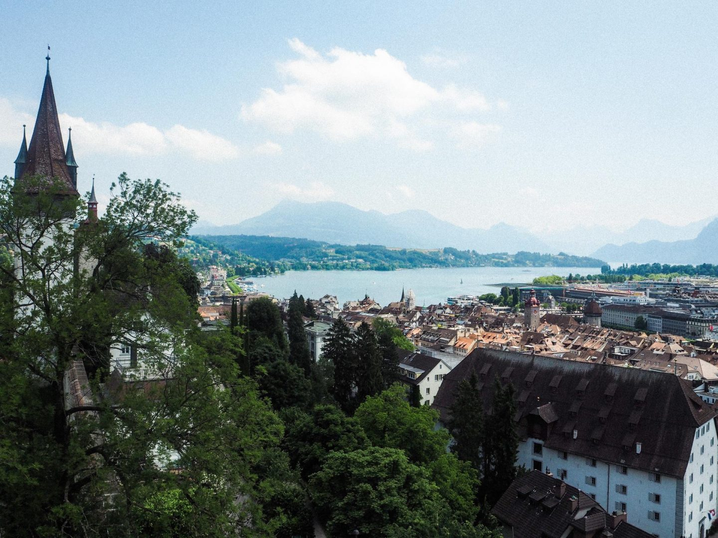 How to spend the day in Lucerne, Switzerland On a Budget - Panoramic View of Lucerne - Rachel Nicole UK Blogger