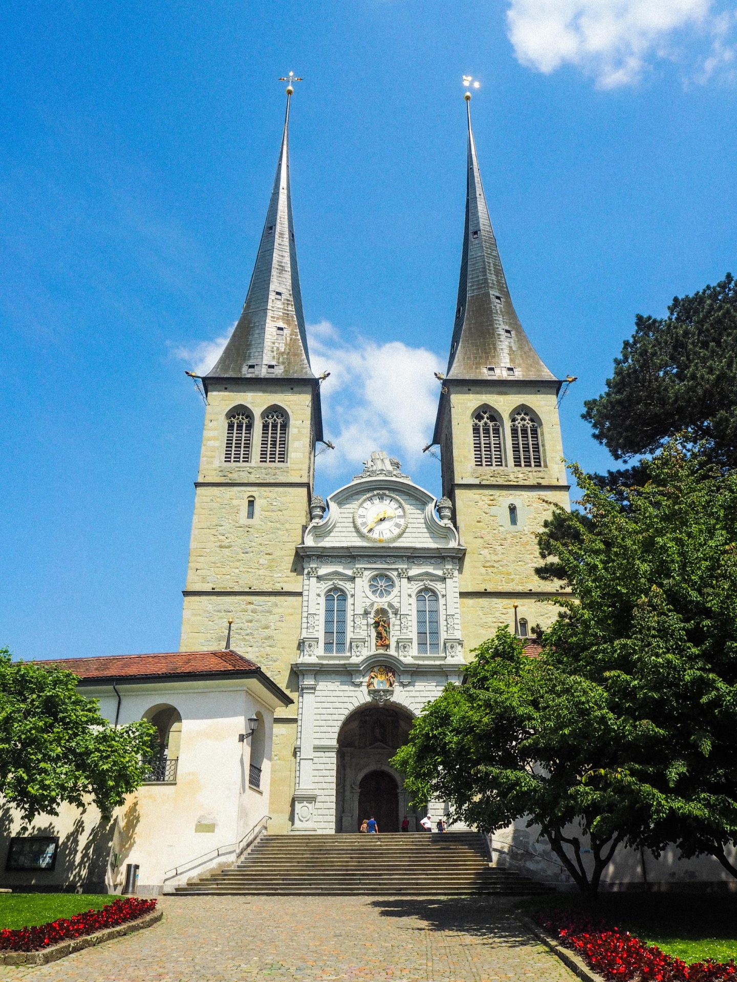 How to spend the day in Lucerne, Switzerland On a Budget - Hofkirche Church - Rachel Nicole UK Blogger