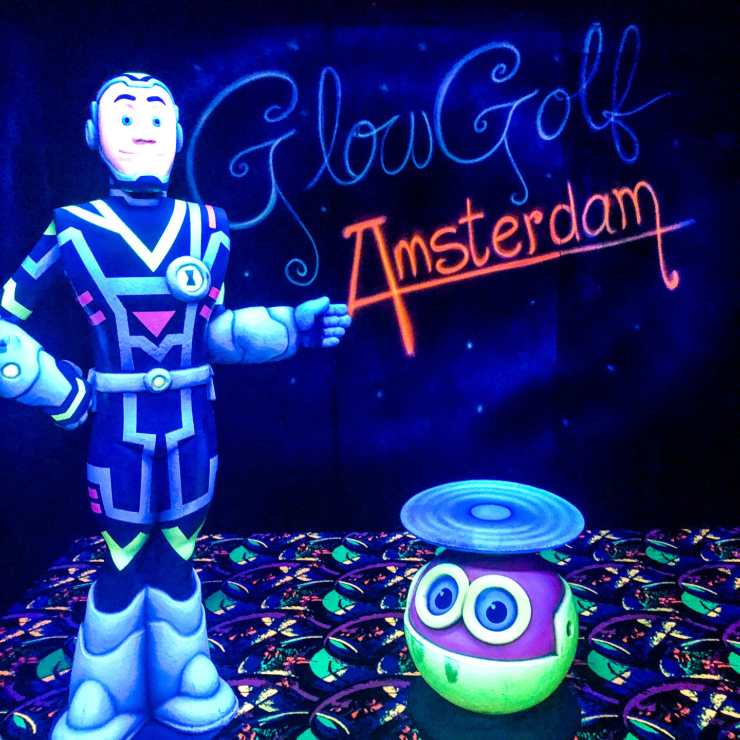 The ULTIMATE Guide to Visiting Amsterdam, Glow Golf Amsterdam - Rachel Nicole UK Blogger
