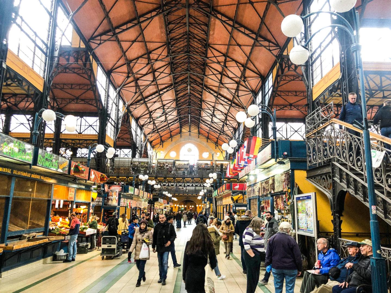 Four Days in Budapest, central market hall - Rachel Nicole UK Blogger