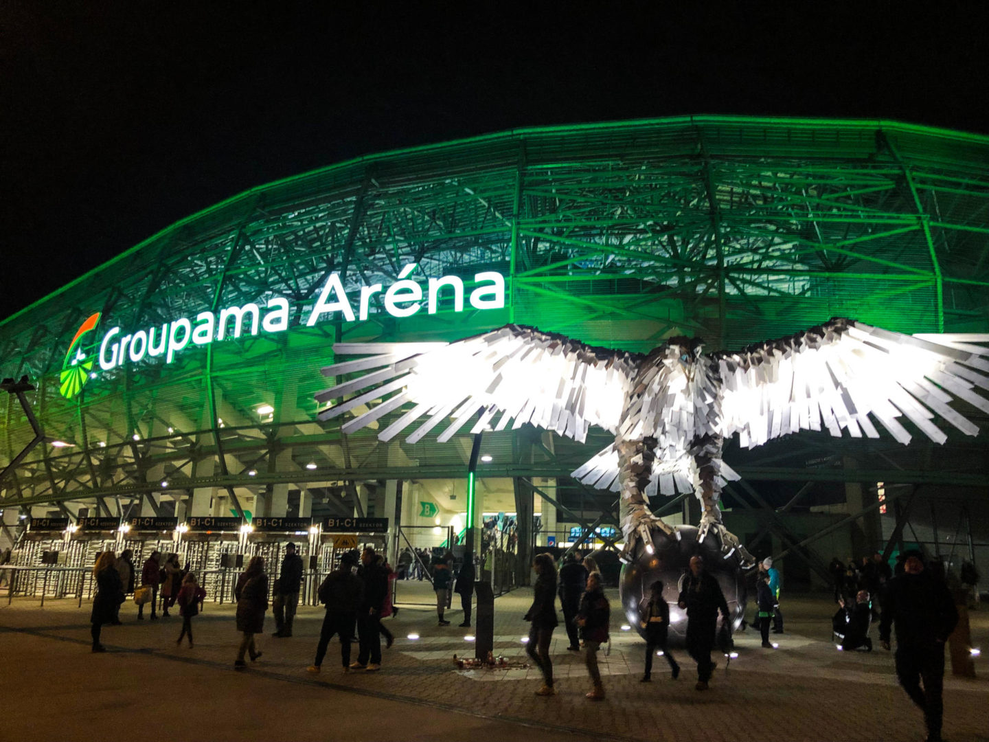 Four Days in Budapest, Groupama Arena