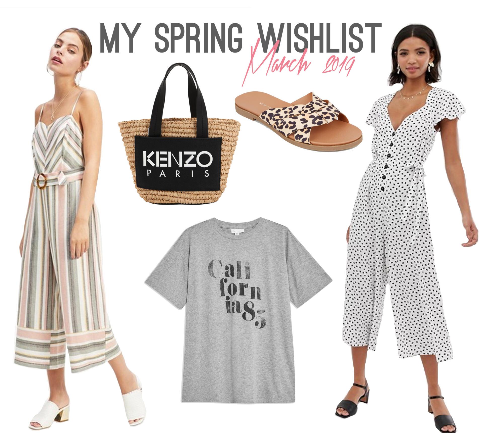 Spring Fashion Wishlist - Rachel Nicole UK Blogger